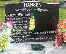 Freshly cleaned Granite Headstone