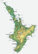 Map of North Island, NZ