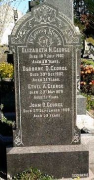 Large Granite Headstone